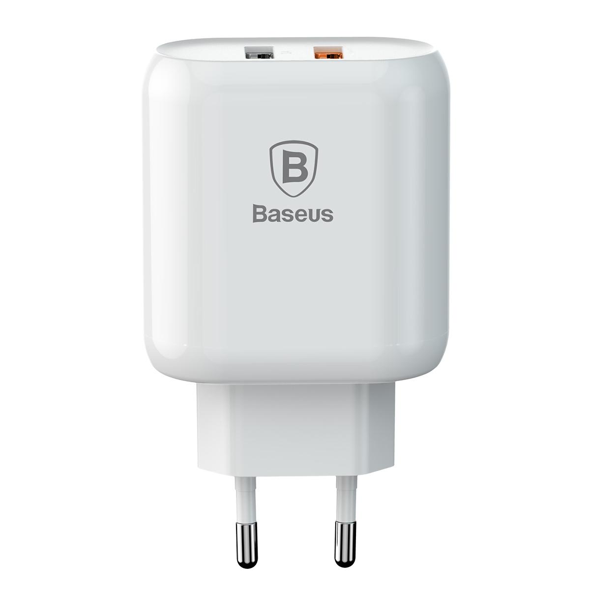 Baseus Bojure Series Dual-USB, QC3.0, 18W, vit