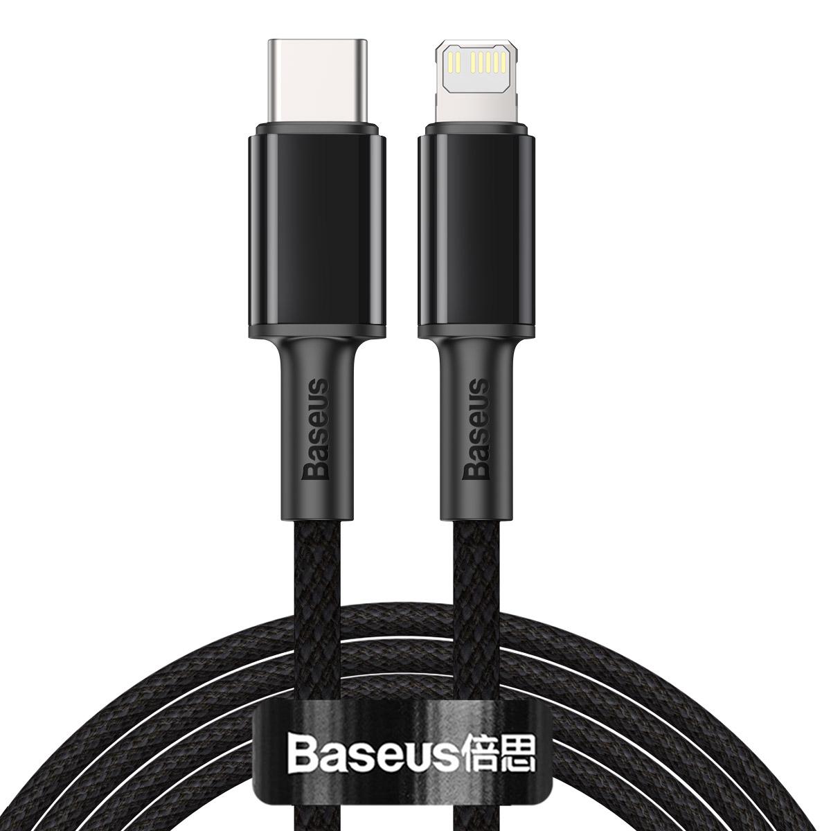 Baseus CATLGD-A01 Lightning till USB-C kabel, PD, 3A, 2m, svart