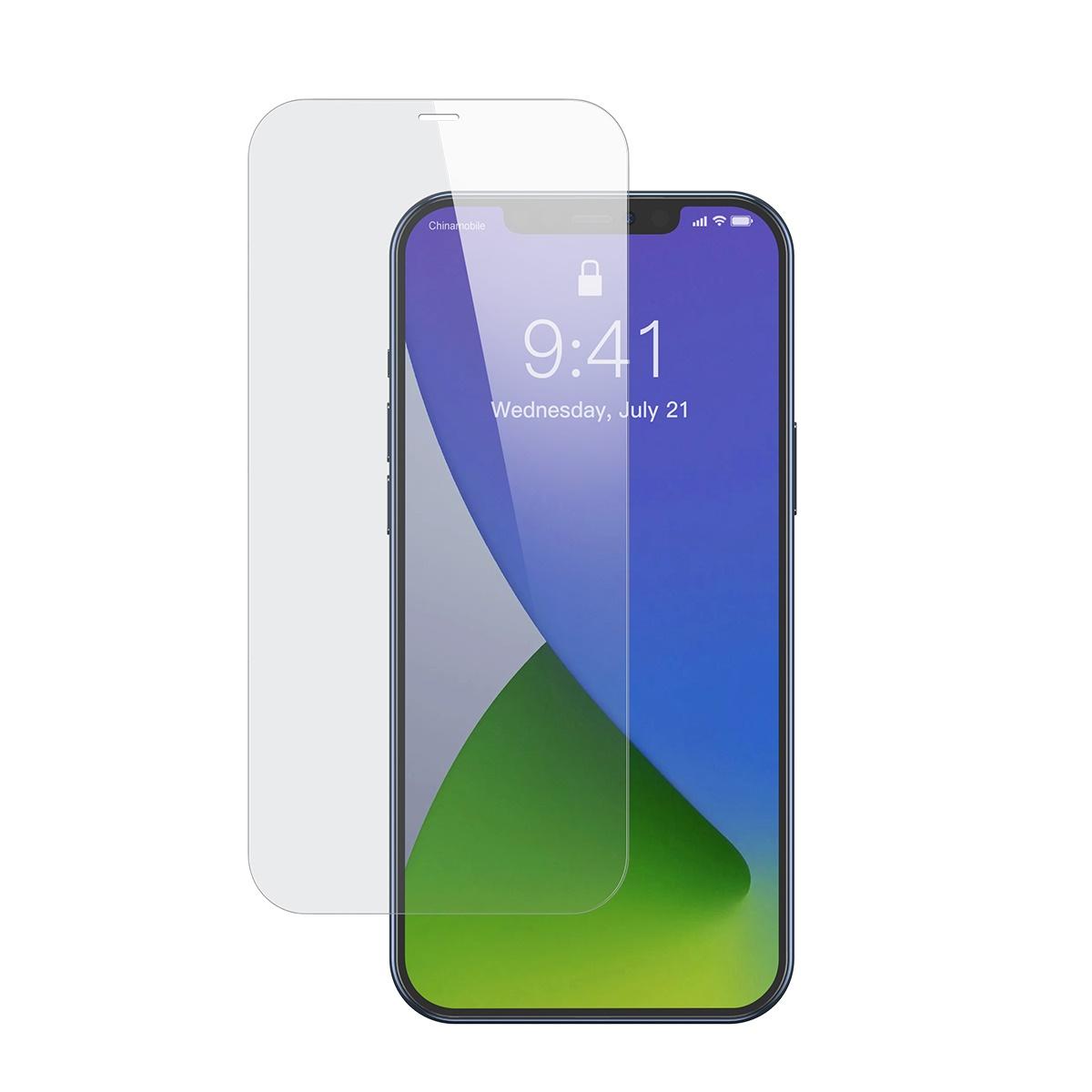 Baseus 2-pack skärmskydd, härdat glas, iPhone 12/12 Pro, 0.15mm