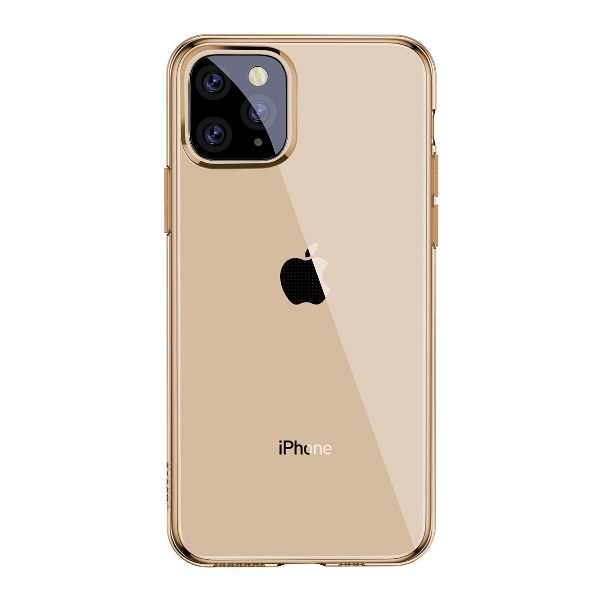 Baseus TPU-skal, iPhone 11 Pro Max, guld/transparent