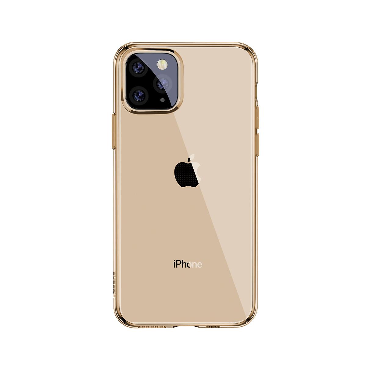 Baseus TPU-skal, iPhone 11 Pro, guld/transparent
