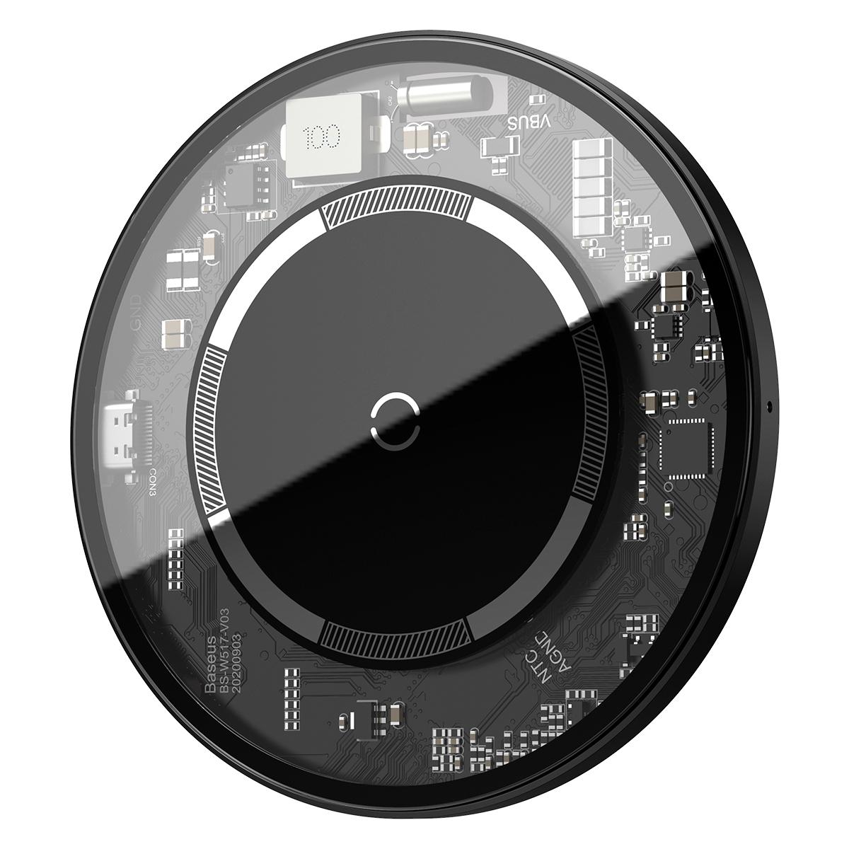 Baseus WXJK-E01 Magnetisk Qi-laddare till iPhone 12, vit