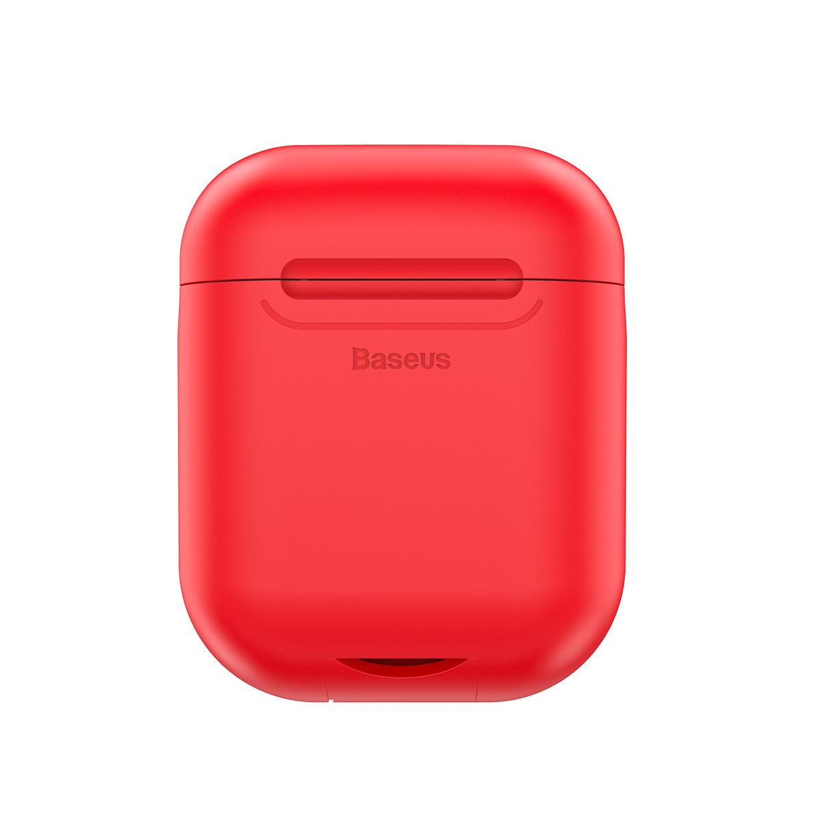 Baseus trådlöst laddningsfodral till AirPods, röd