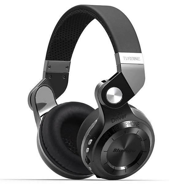 Bluedio T2+ Trådlösa hörlurar, Bluetooth v4.1, svart