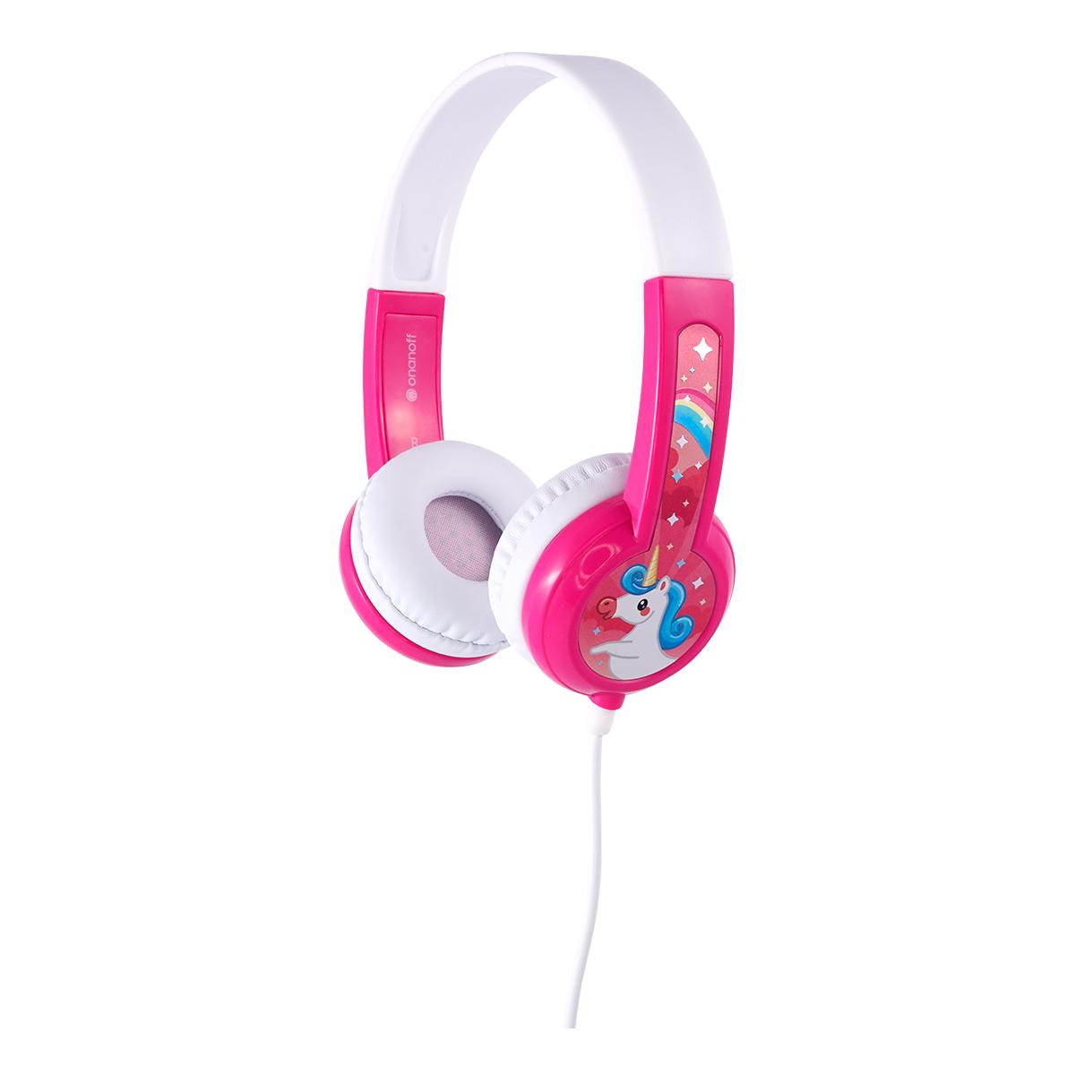 BuddyPhones Discover barnhörlurar, rosa