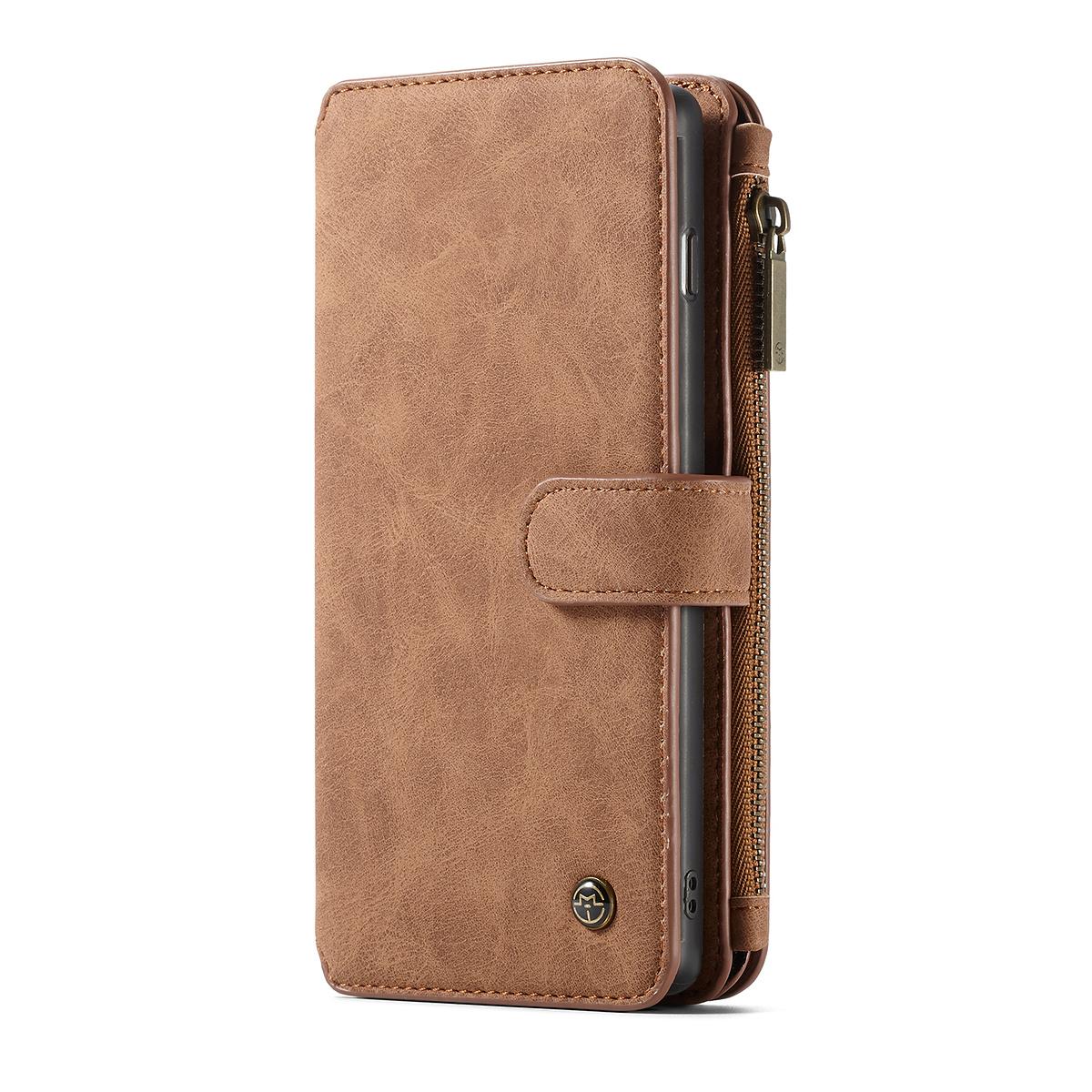 CaseMe plånboksfodral magnetskal, Samsung Galaxy S10 Plus, brun