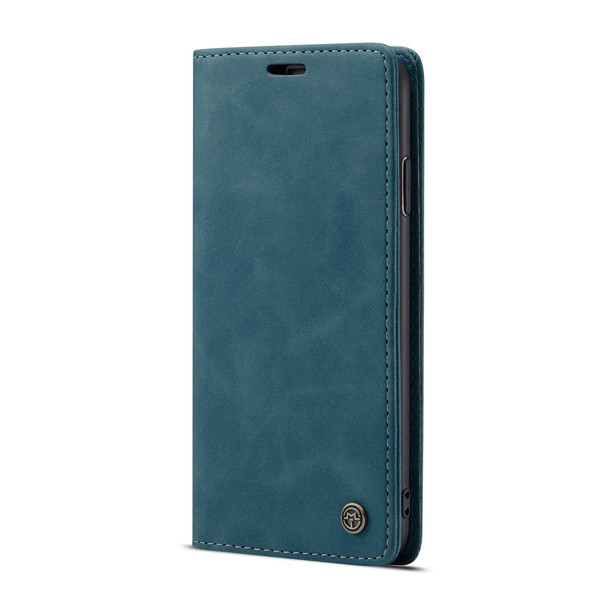 CaseMe plånboksfodral med ställ till iPhone XR, blå