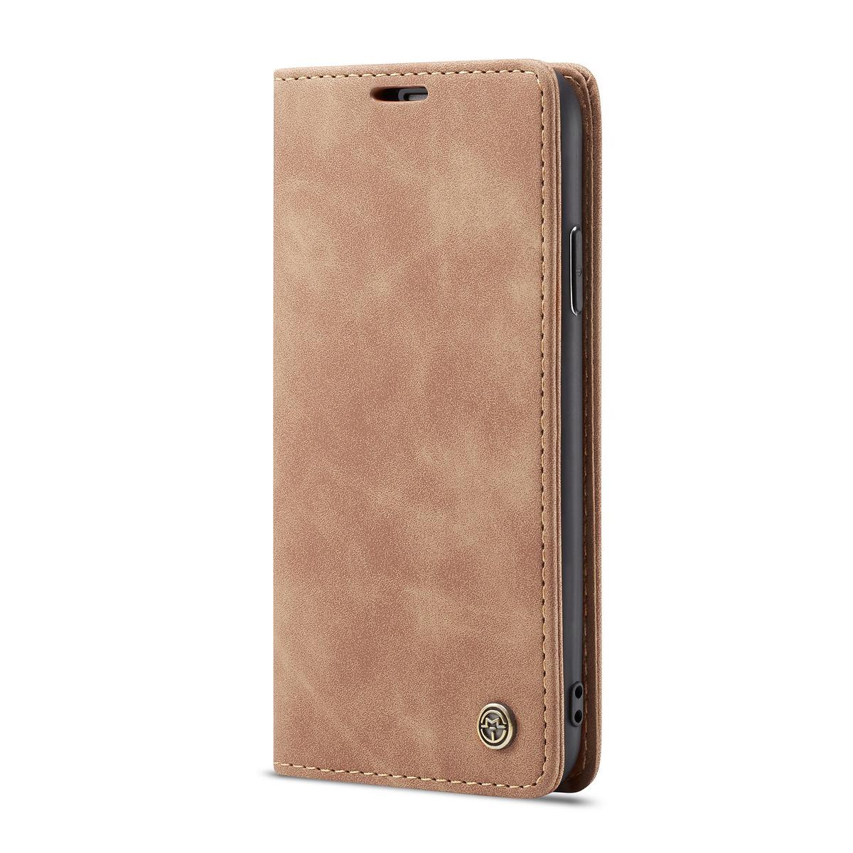 CaseMe plånboksfodral, iPhone X/XS, brun