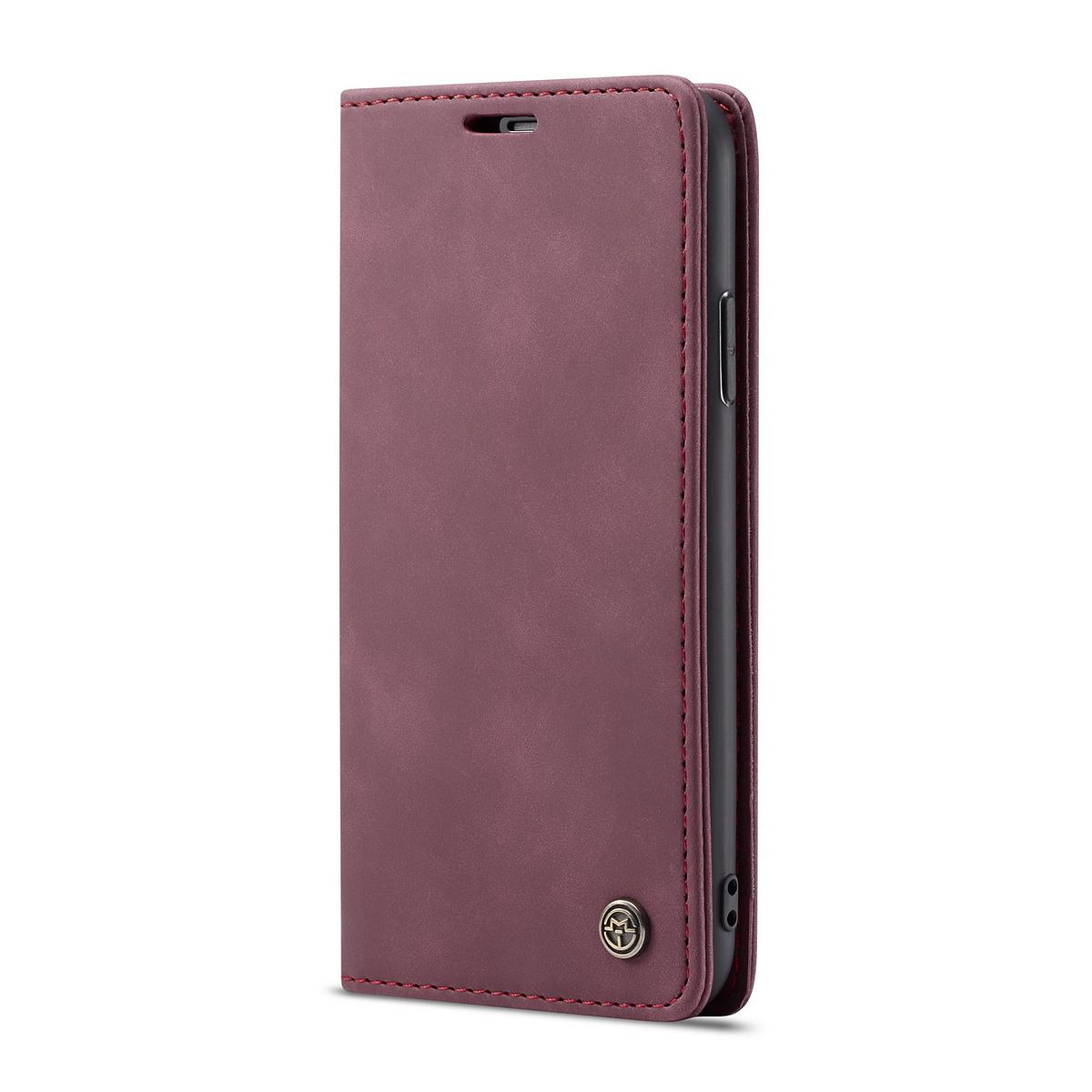 CaseMe plånboksfodral, iPhone X/XS, vinröd
