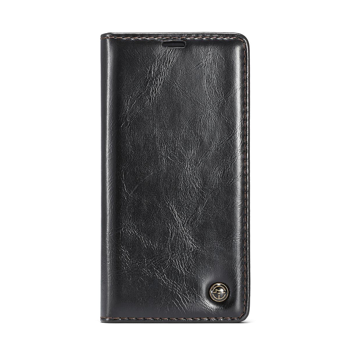 CaseMe läderfodral, ställ, iPhone XS Max, svart