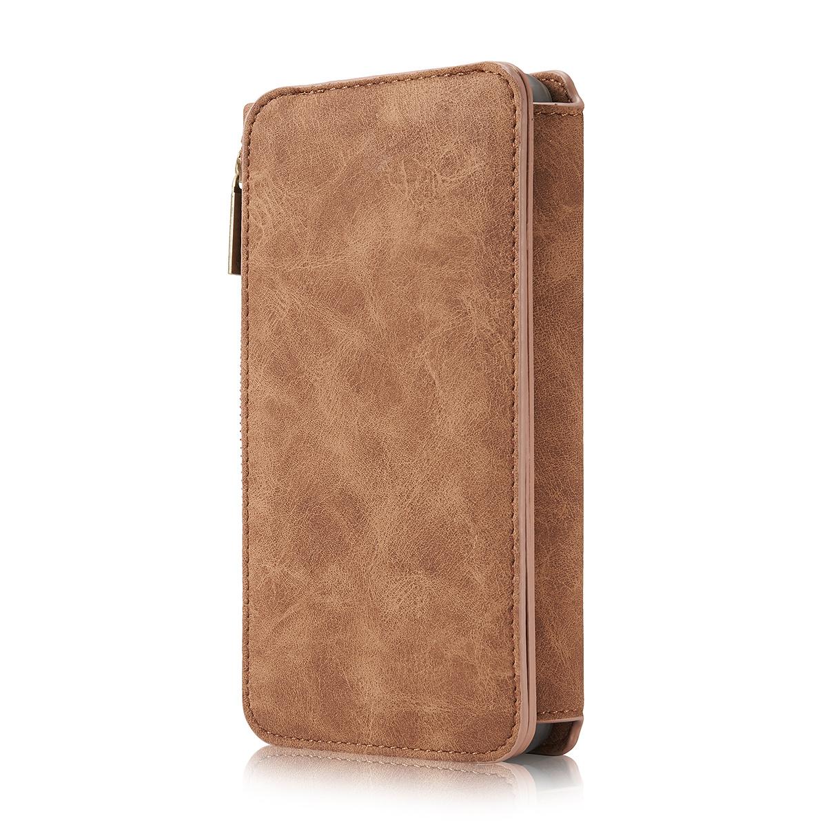 CaseMe plånboksfodral med magnetskal, Samsung Galaxy S8, brun