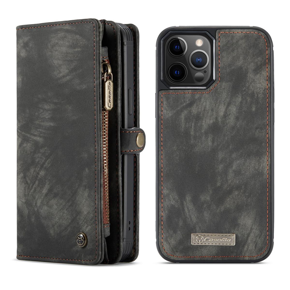 CaseMe 008 Series läderfodral, iPhone 12 Pro Max, svart