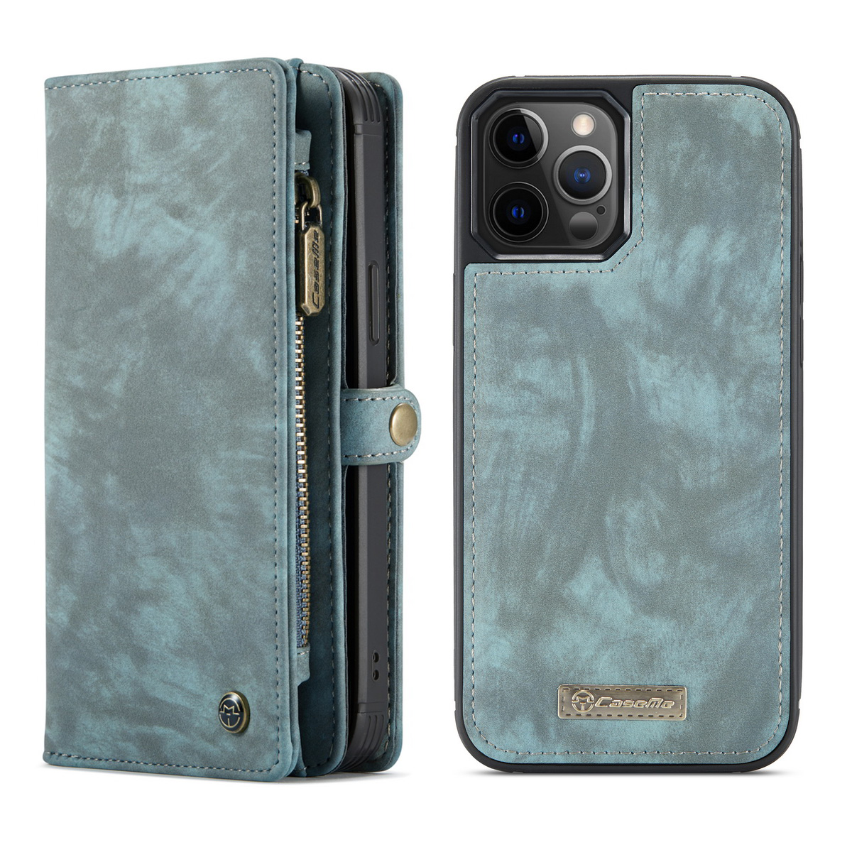 CaseMe 008 Series läderfodral, iPhone 12 Pro Max, blå