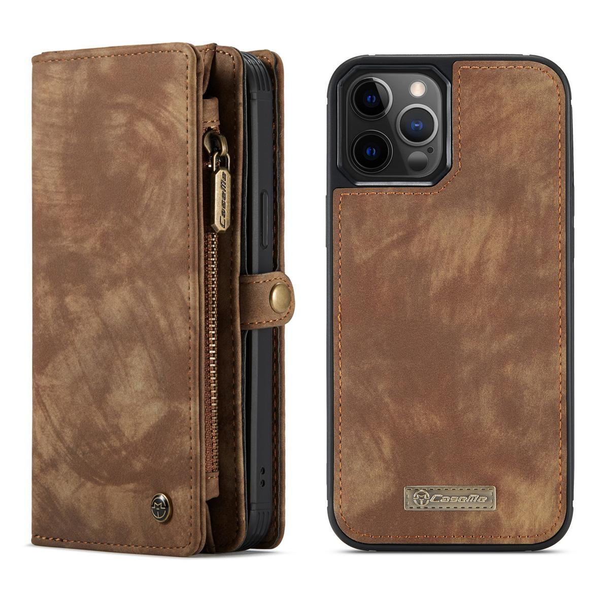 CaseMe 008 Series läderfodral, iPhone 12 Pro Max, brun
