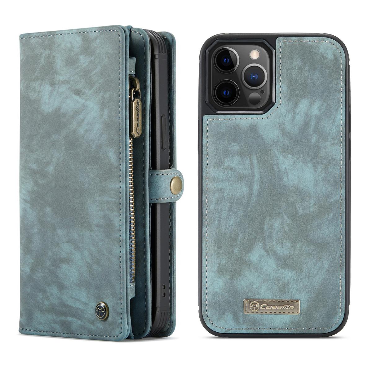 CaseMe 008 Series läderfodral, iPhone 12/12 Pro, blå