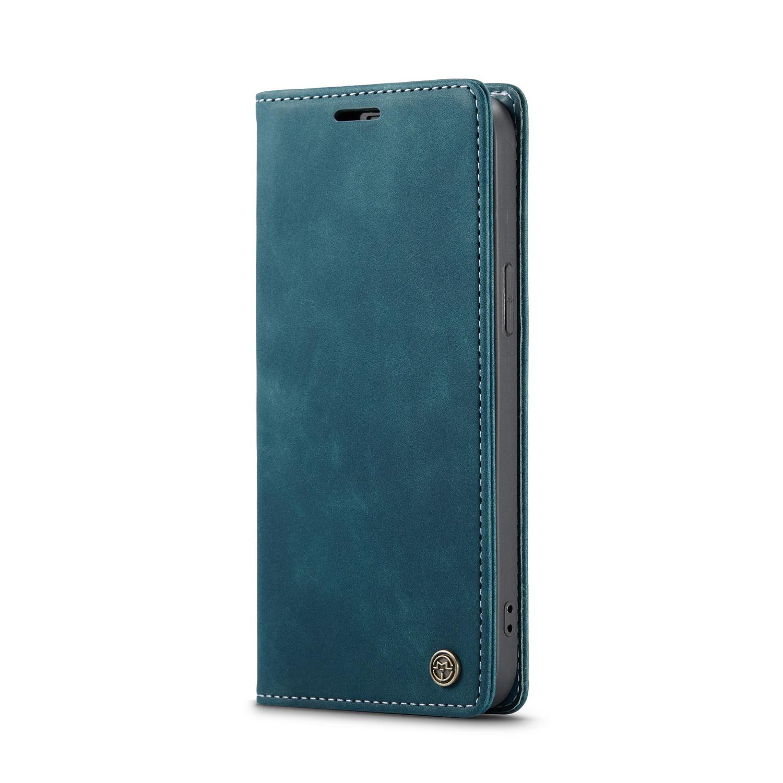 CaseMe 013 Series läderfodral till iPhone 12 Pro Max, blå