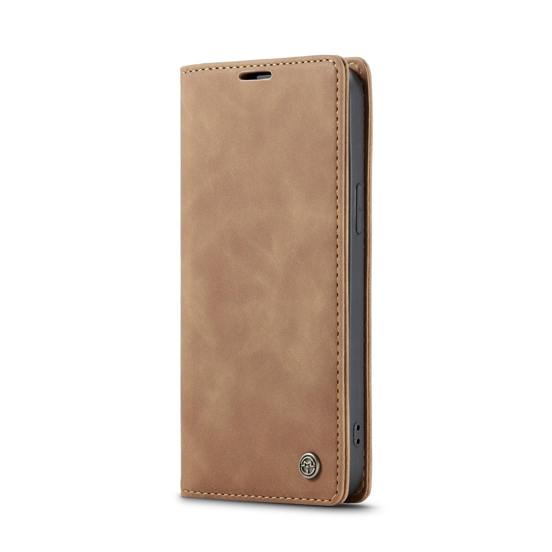 CaseMe 013 Series läderfodral till iPhone 12 Pro Max, brun
