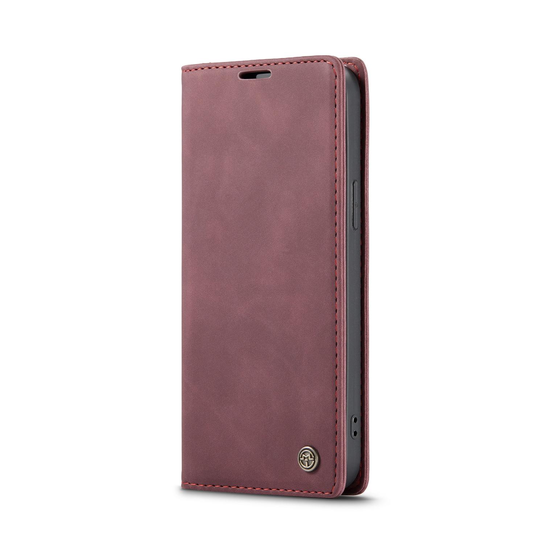 CaseMe 013 Series läderfodral till iPhone 12/12 Pro, röd