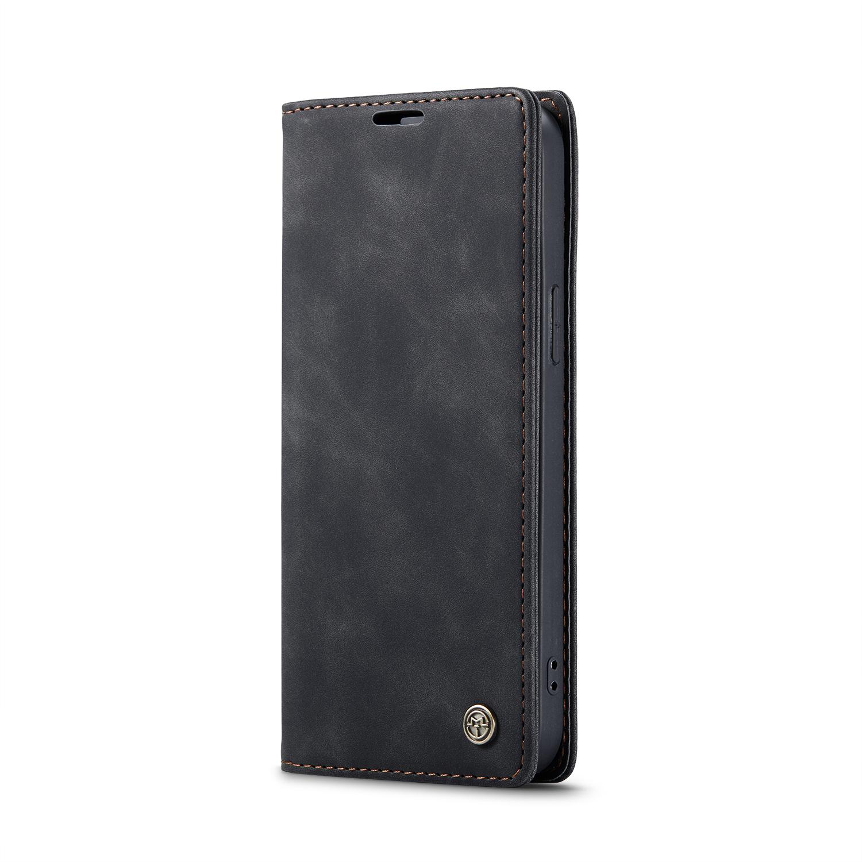 CaseMe 013 Series läderfodral till iPhone 12/12 Pro, svart