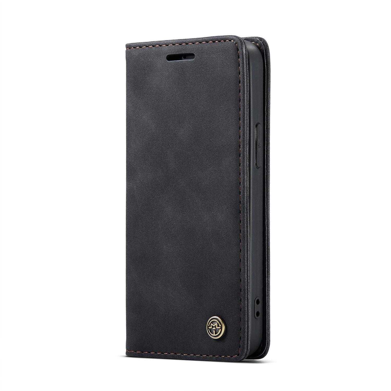 CaseMe 013 Series läderfodral till iPhone 12 Mini, svart
