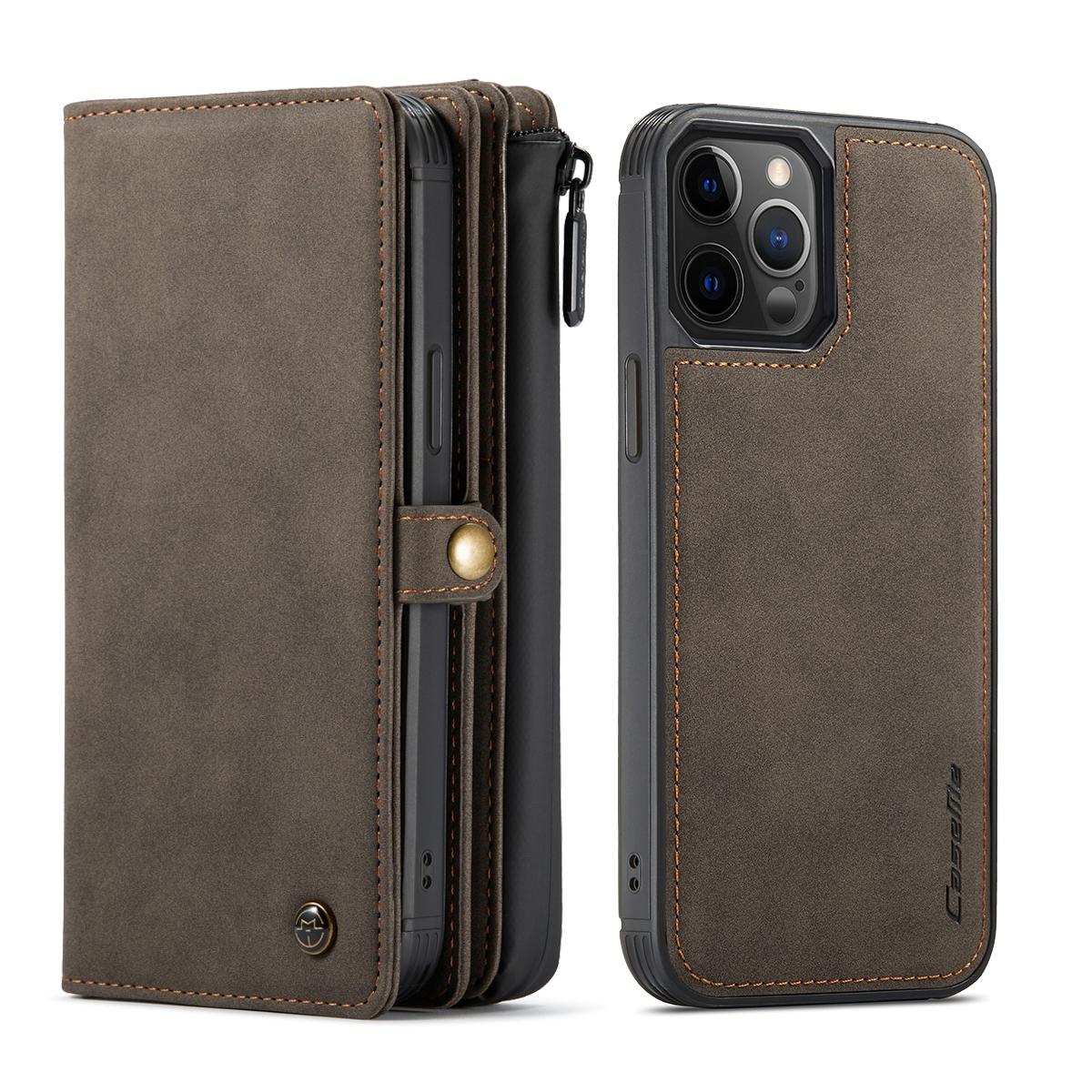 CaseMe 018 Series läderfodral till iPhone 12 Pro Max, brun