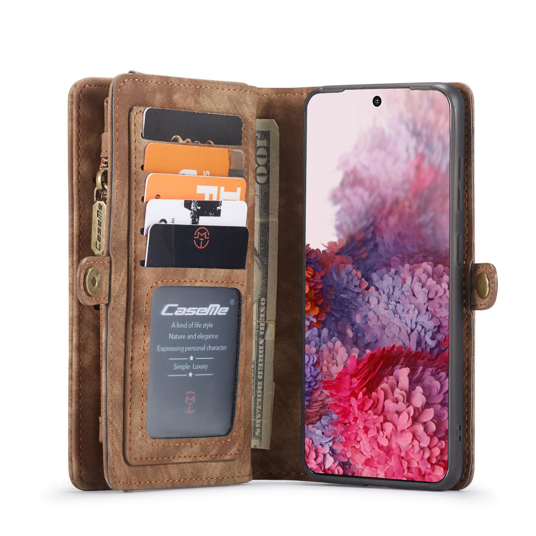 CaseMe fodral med magnetskal, Samsung Galaxy S20 Plus, brun