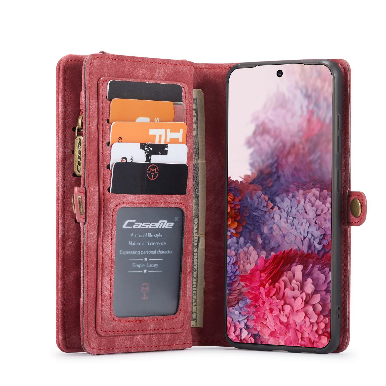 CaseMe fodral med magnetskal, Samsung Galaxy S20, röd