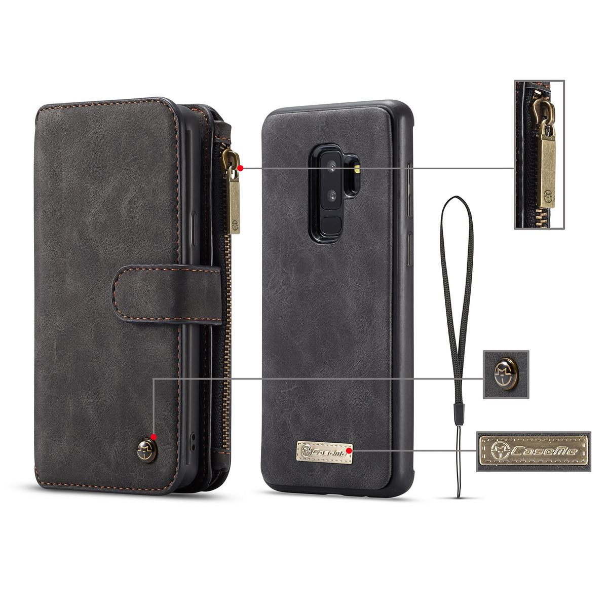 CaseMe plånboksfodral magnetskal, Samsung Galaxy S8 Plus, svart