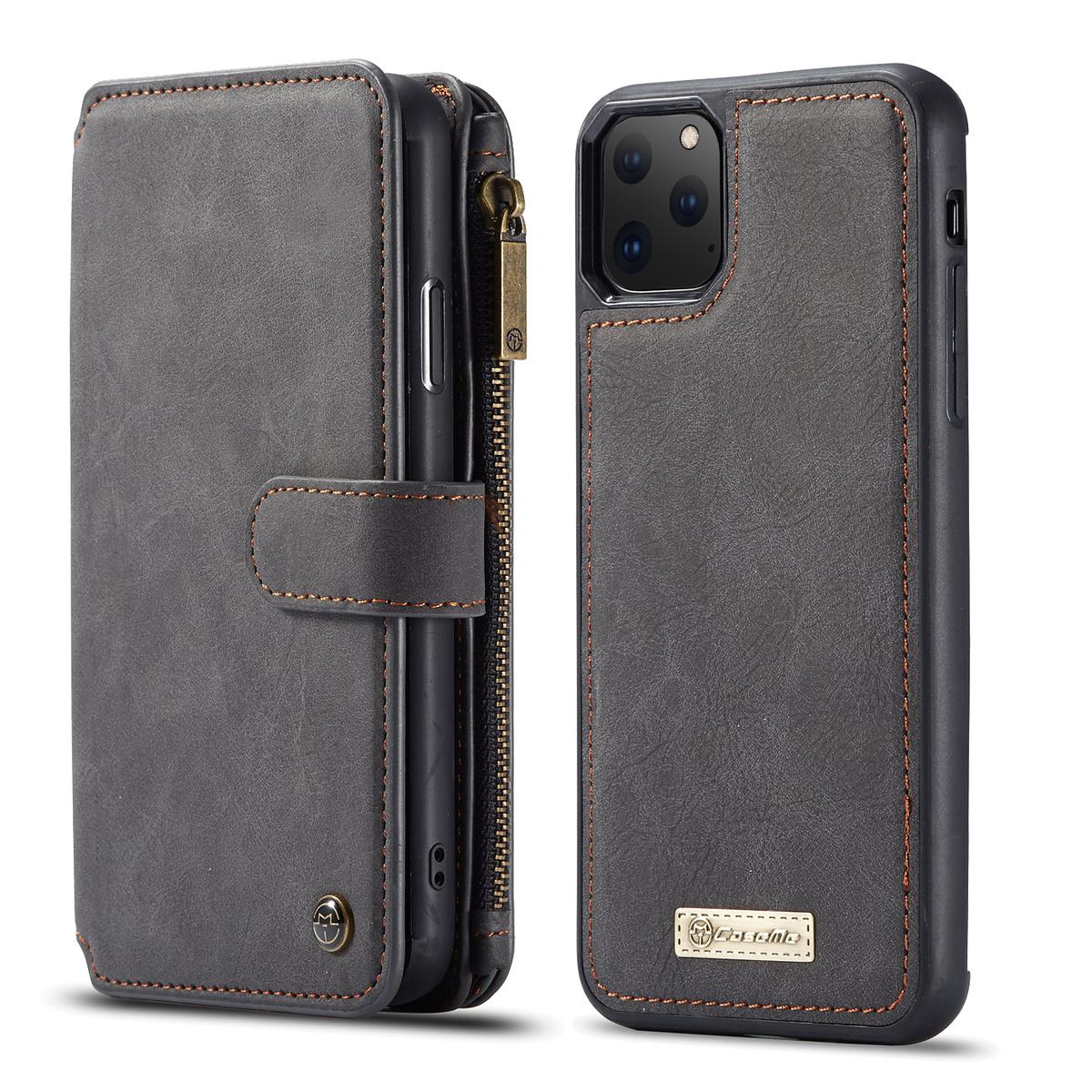 CaseMe plånboksfodral, magnetskal, iPhone 11 Pro Max, svart