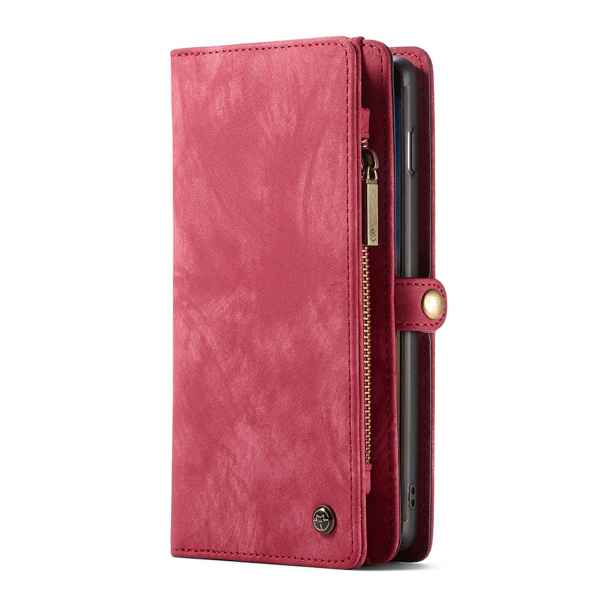 CaseMe plånboksfodral med magnetskal, Samsung Galaxy S10, röd