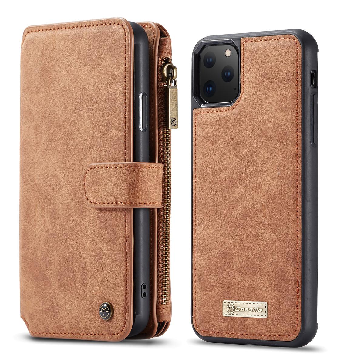 CaseMe plånboksfodral med magnetskal, iPhone 11 Pro, brun