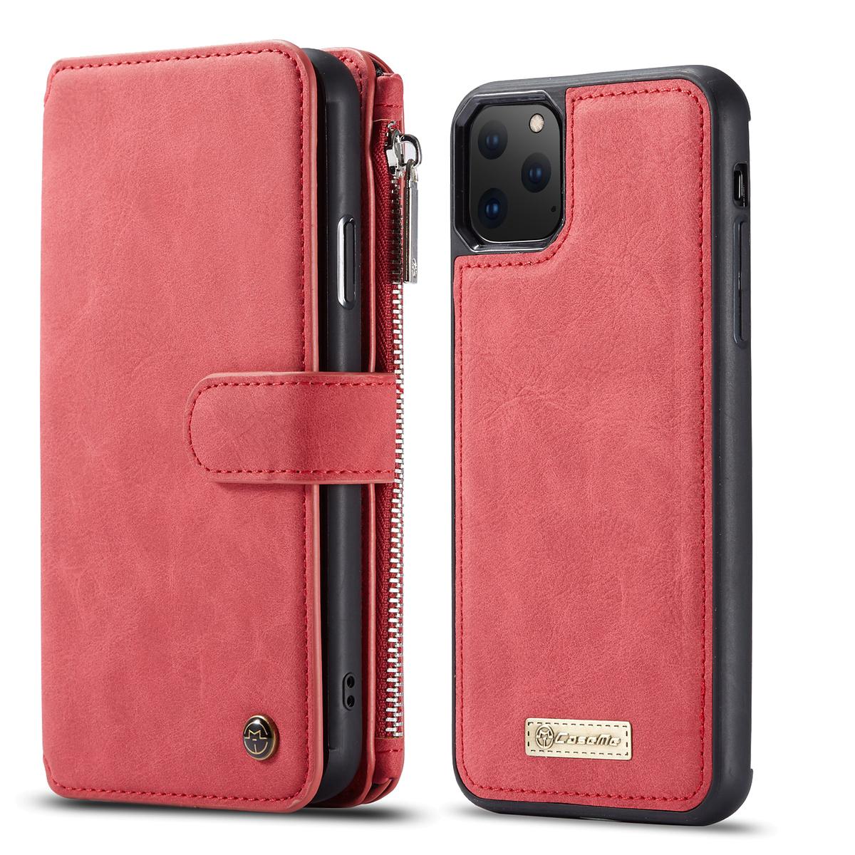 CaseMe plånboksfodral med magnetskal, iPhone 11 Pro, röd