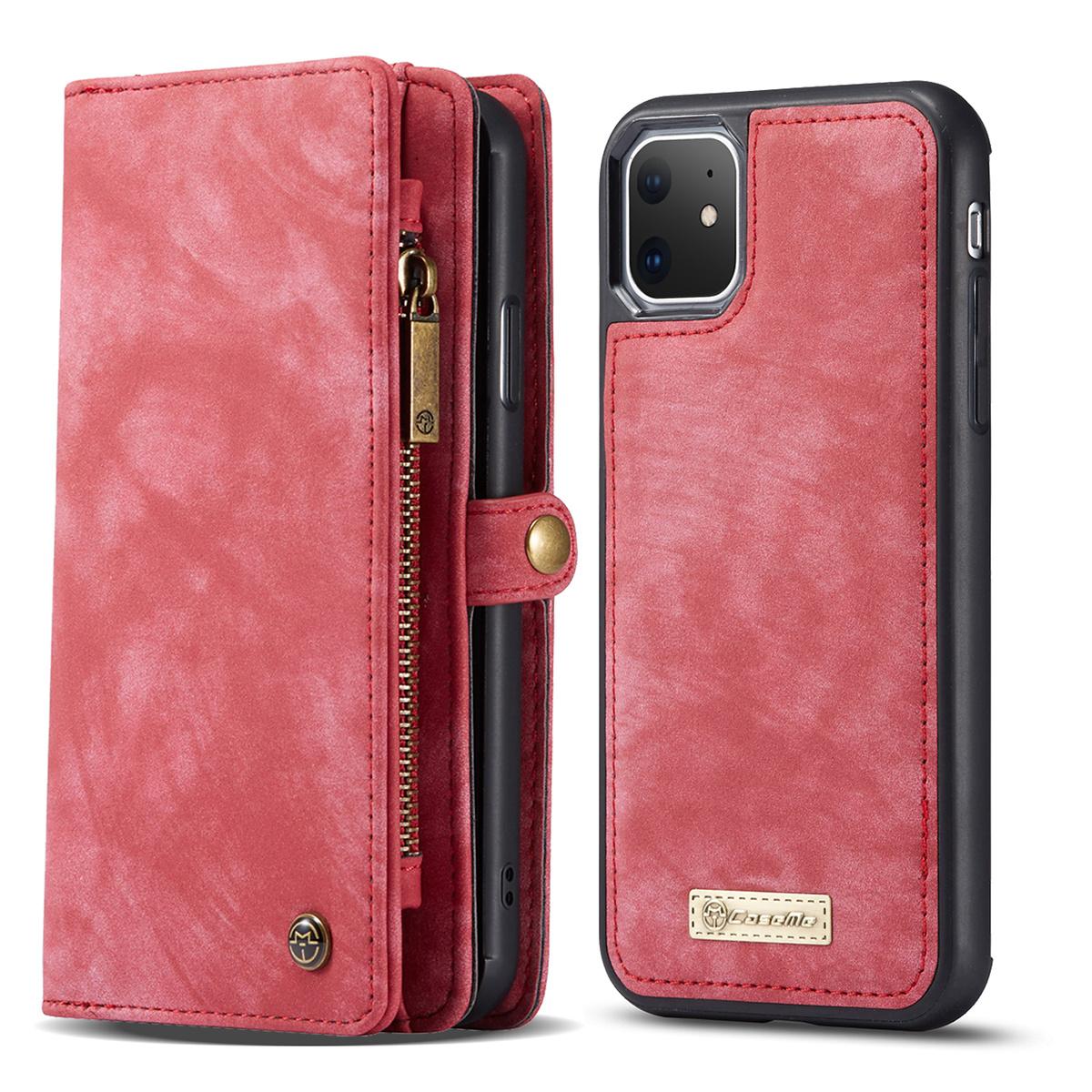CaseMe plånboksfodral med magnetskal, iPhone 11, röd