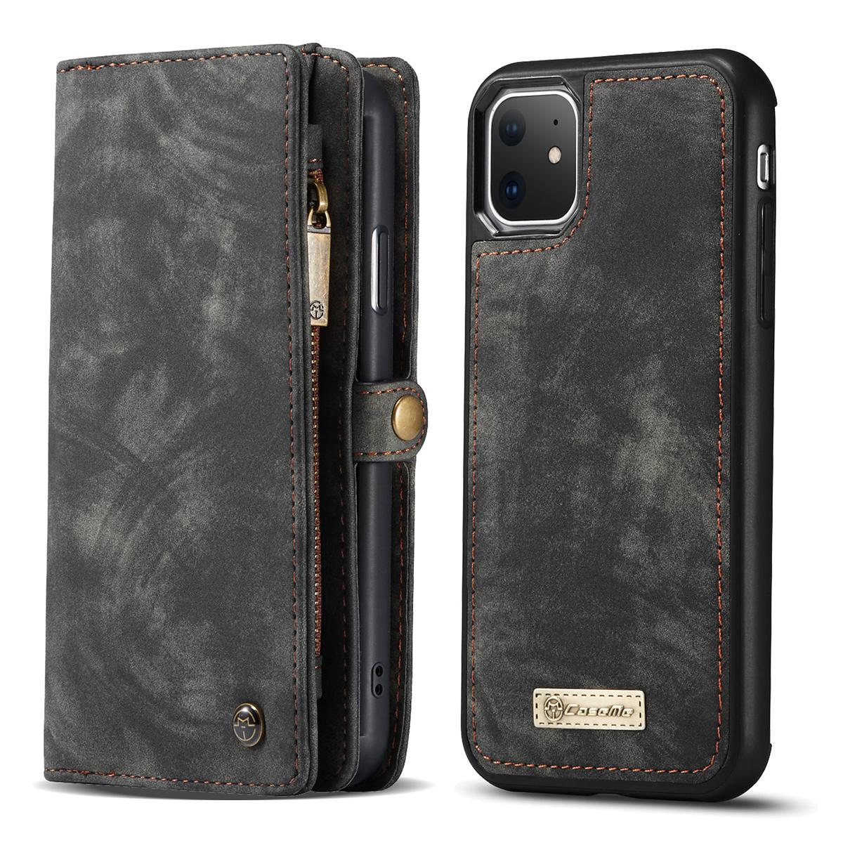 CaseMe plånboksfodral med magnetskal, iPhone 11, svart