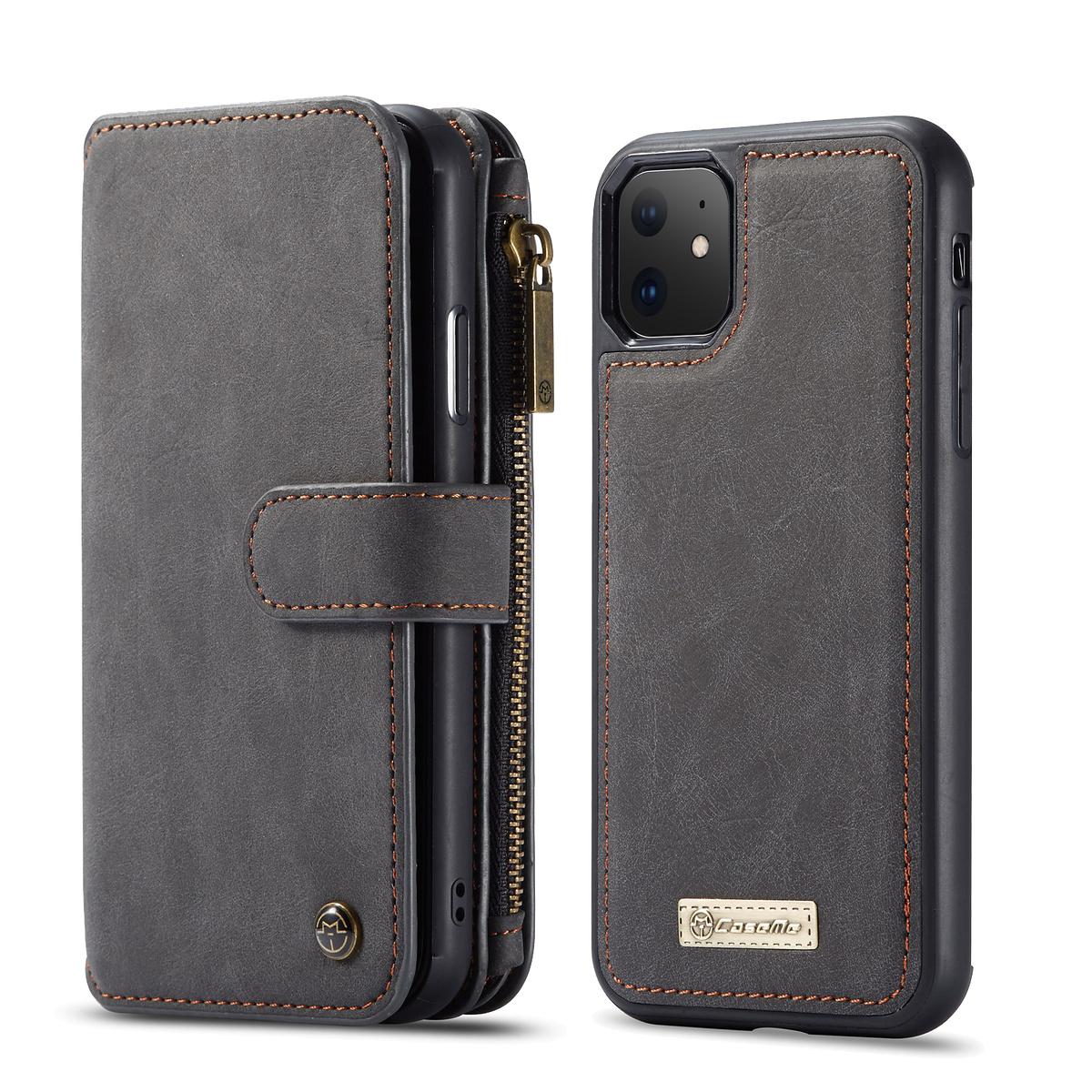 CaseMe plånboksfodral med magnetskal till iPhone 11, svart