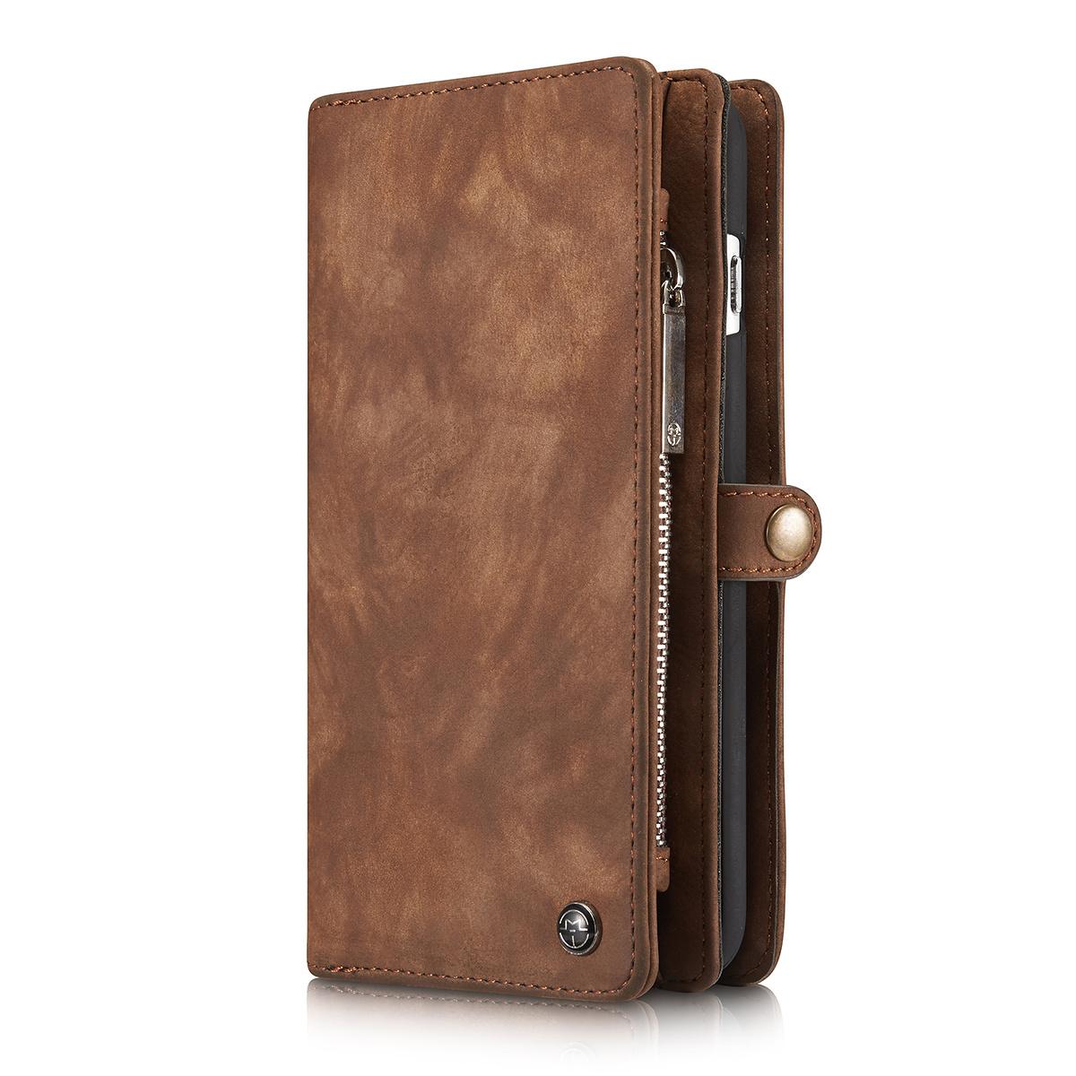 CaseMe plånboksfodral med magnetskal, iPhone 6/6S Plus, brun