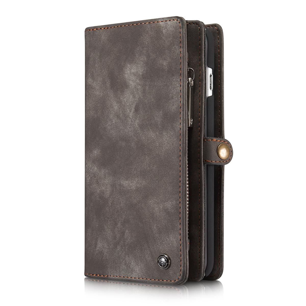 CaseMe plånboksfodral med magnetskal, iPhone 6/6S Plus, svart