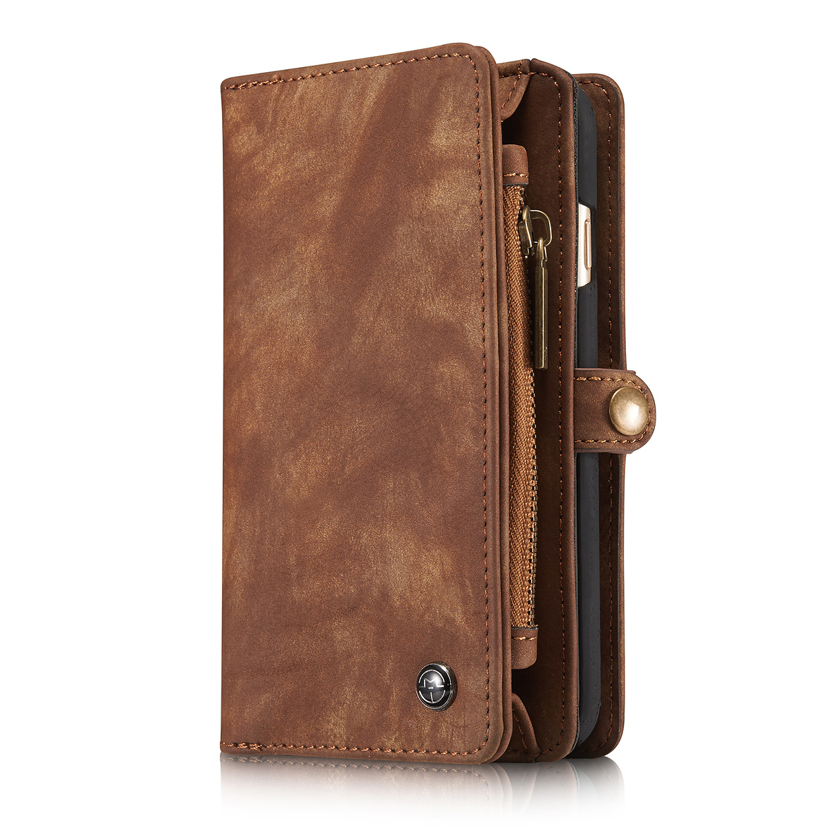 CaseMe plånboksfodral med magnetskal till iPhone 6/6S, brun