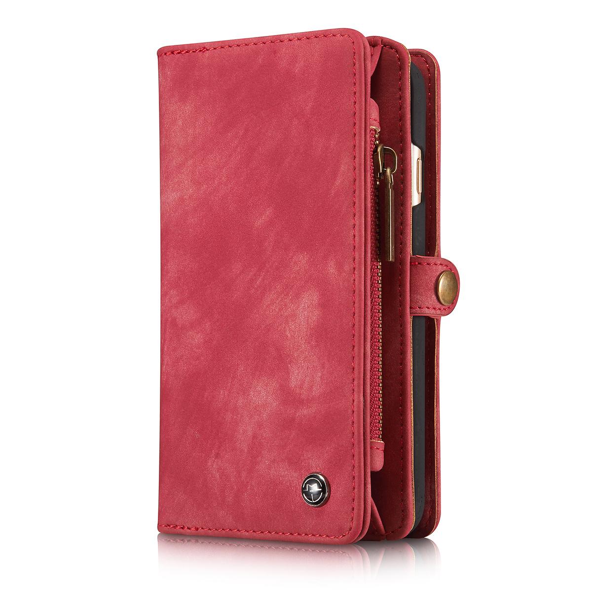 CaseMe plånboksfodral med magnetskal till iPhone 6/6S, röd