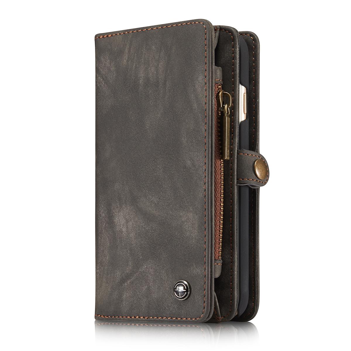 CaseMe plånboksfodral med magnetskal till iPhone 6/6S, svart