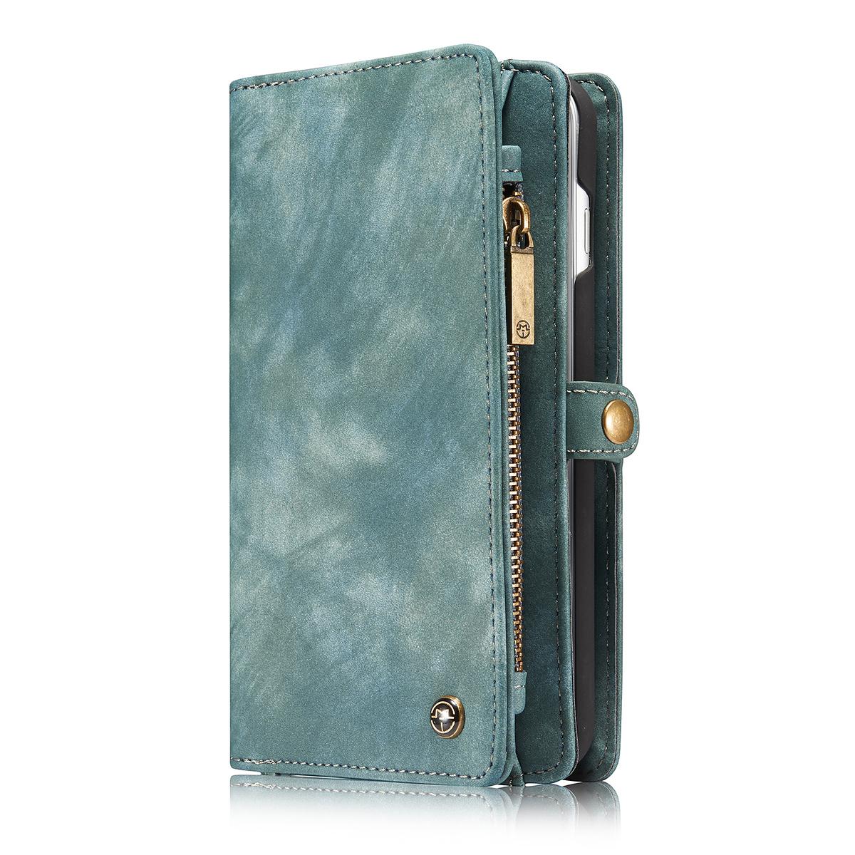 CaseMe plånboksfodral med magnetskal, iPhone 7/8 Plus, blå