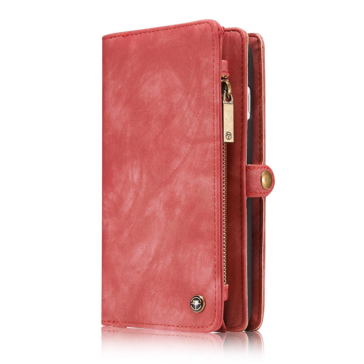 CaseMe plånboksfodral med magnetskal, iPhone 7/8 Plus, röd