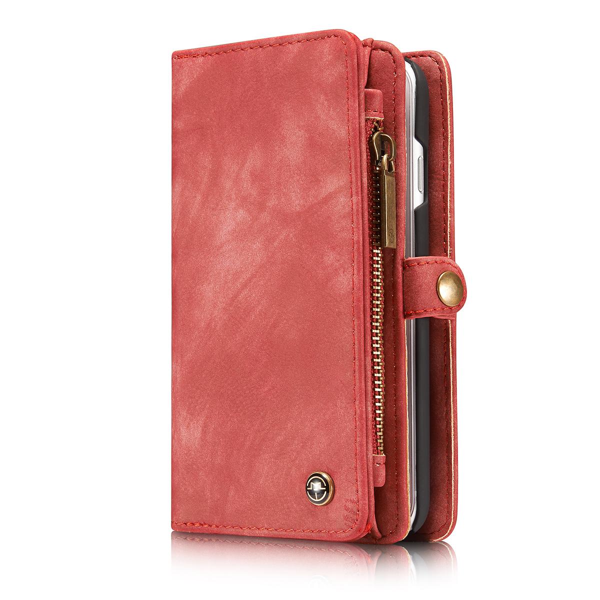 CaseMe plånboksfodral med magnetskal, iPhone 7/8, röd