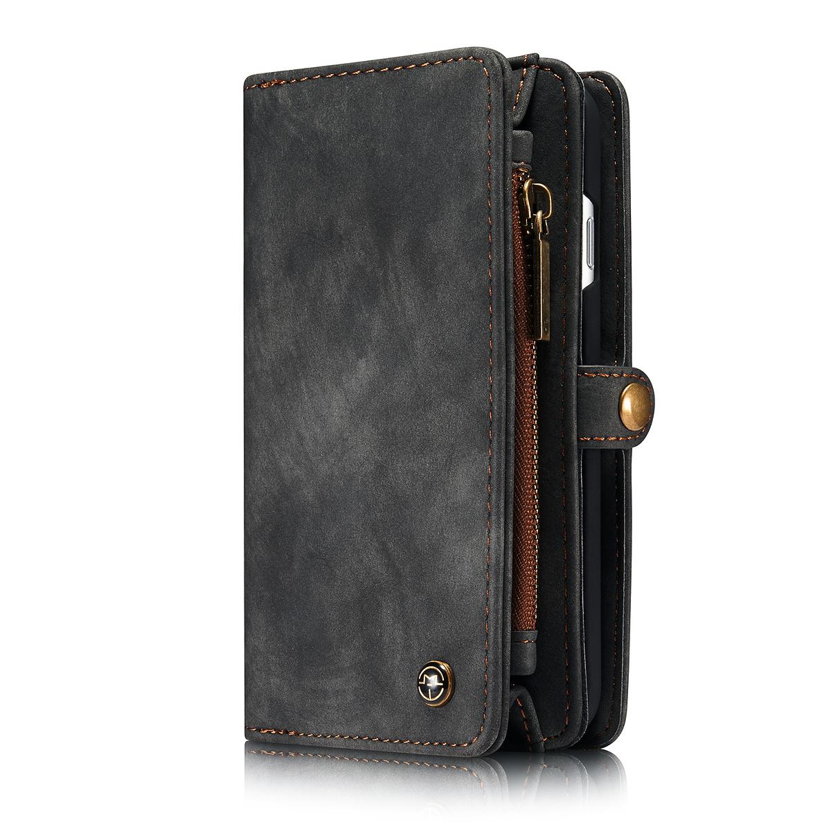 CaseMe plånboksfodral med magnetskal, iPhone 7/8, svart/grön