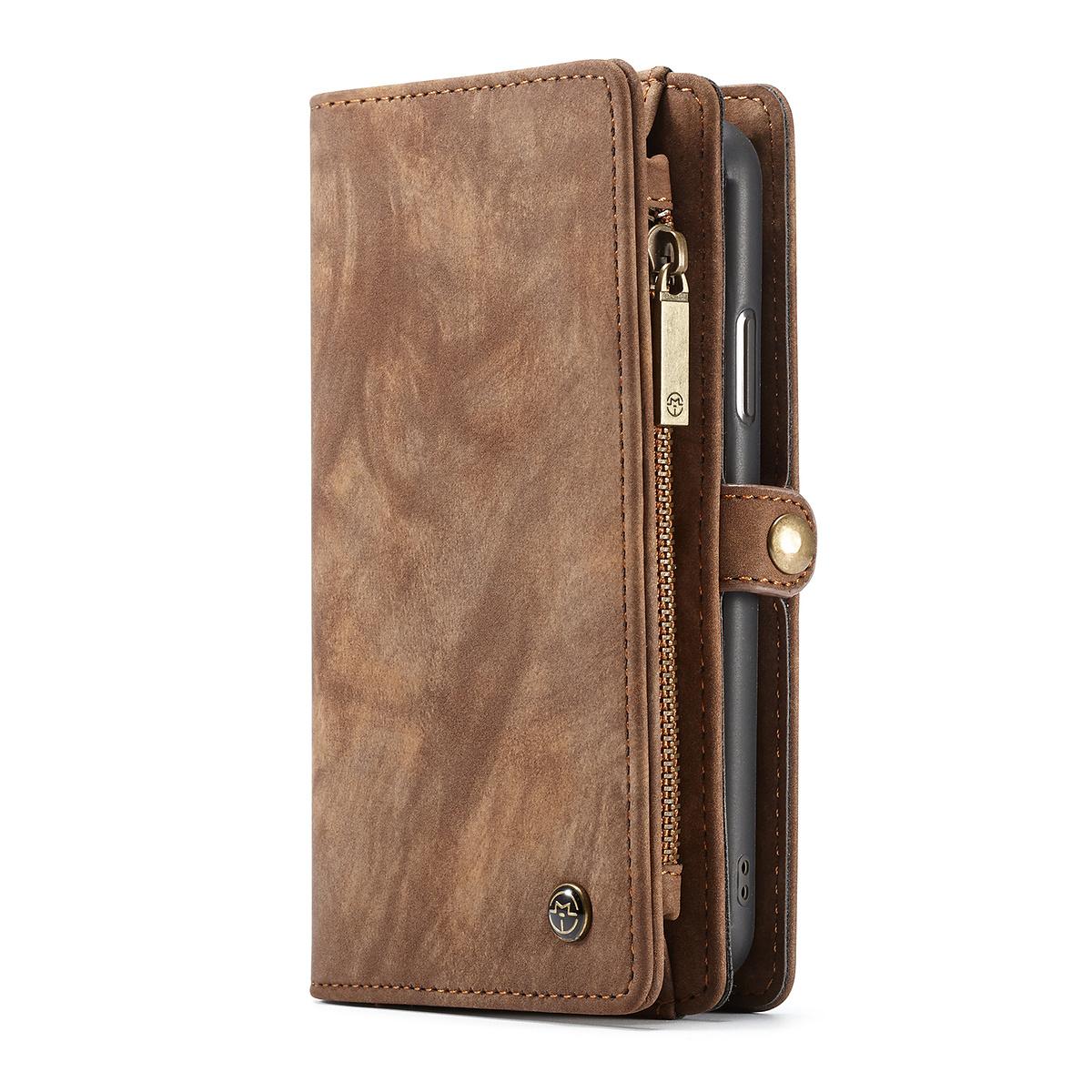 CaseMe plånboksfodral med magnetskal till iPhone XS Max, brun