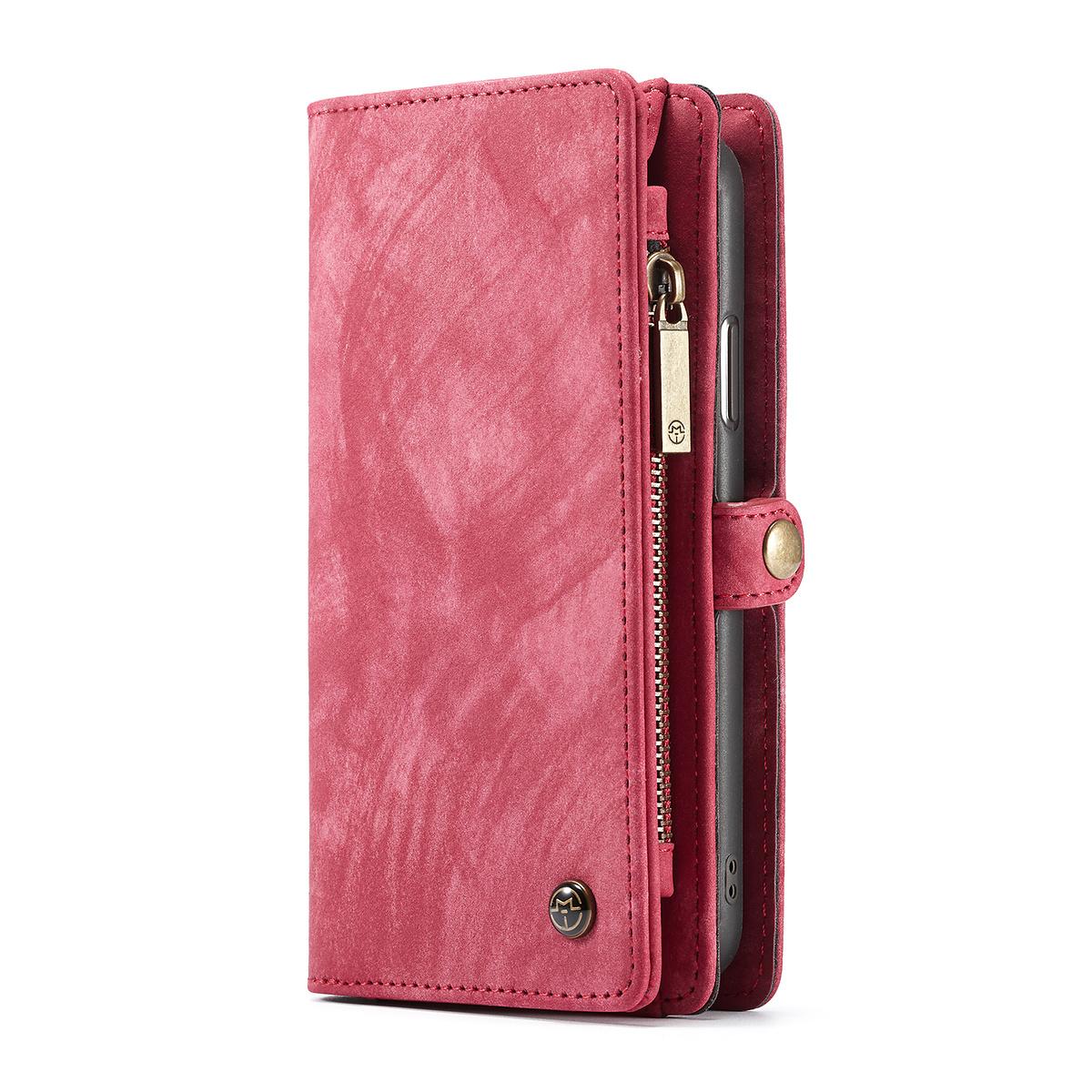 CaseMe plånboksfodral med magnetskal till iPhone XS Max, röd