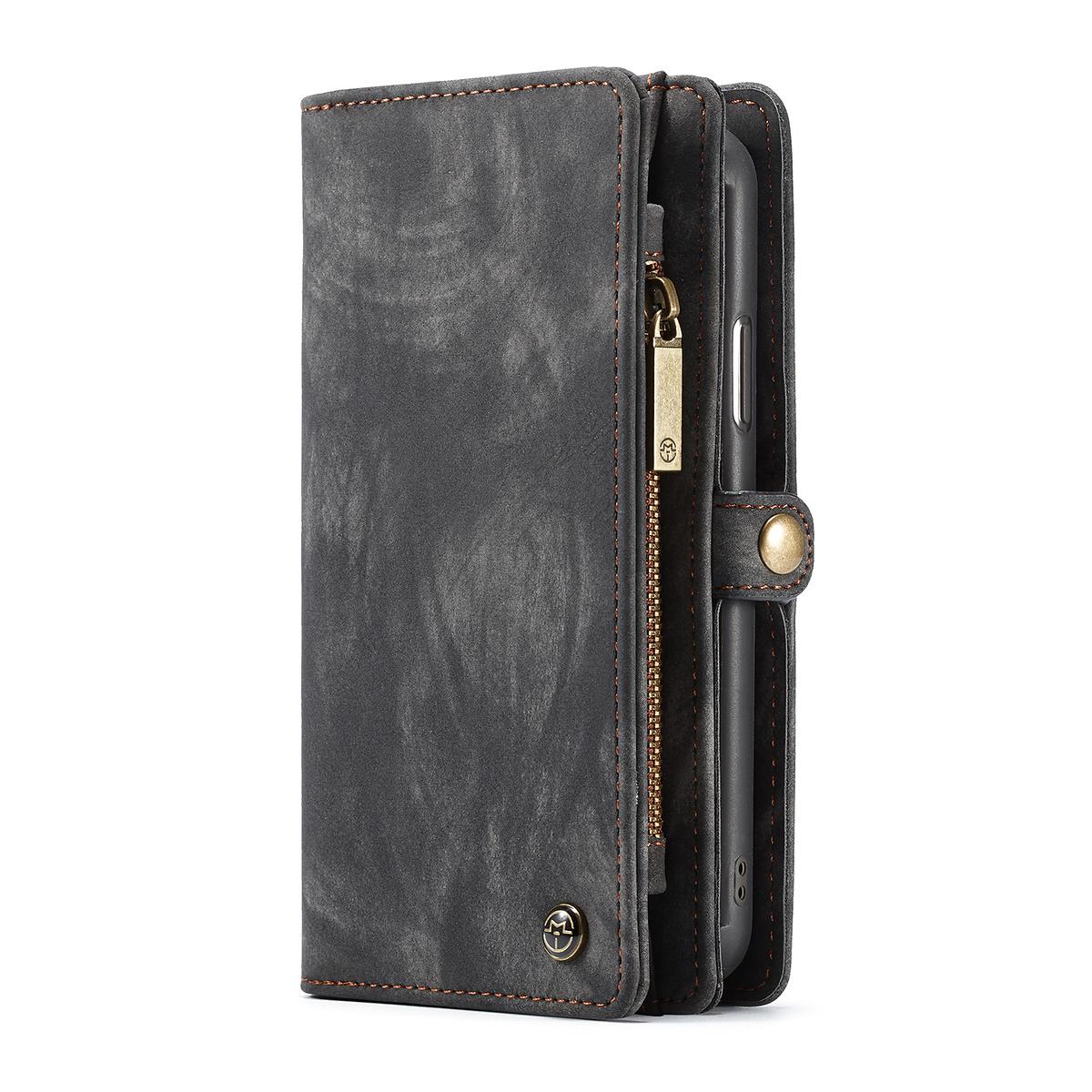 CaseMe plånboksfodral med magnetskal till iPhone XS Max, svart