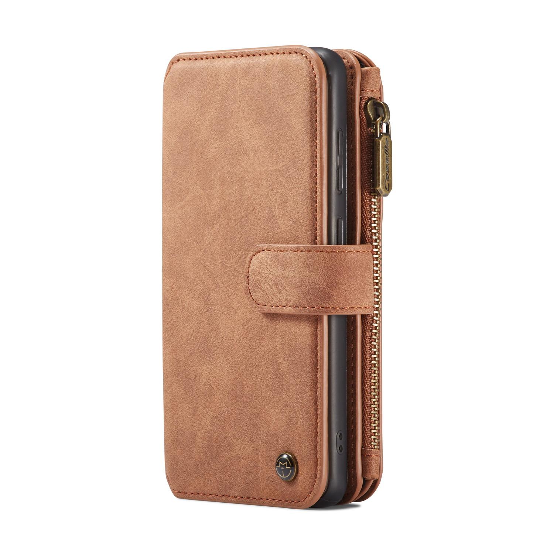 CaseMe plånboksfodral med magnetskal, Samsung Galaxy S20+, brun