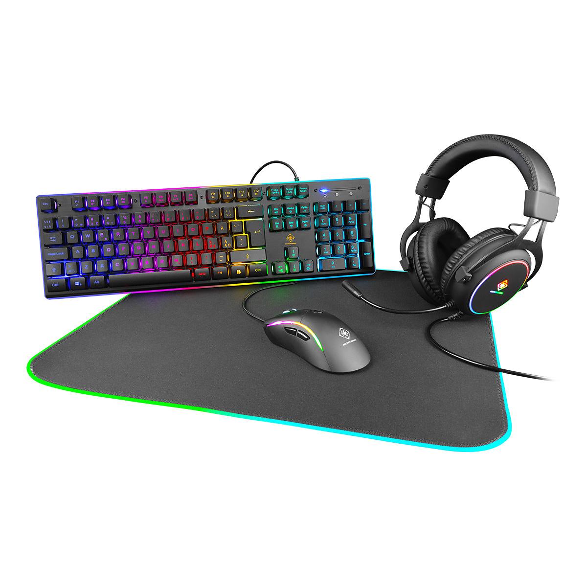 DELTACO GAMING 4-in-1 RGB Gaming kit
