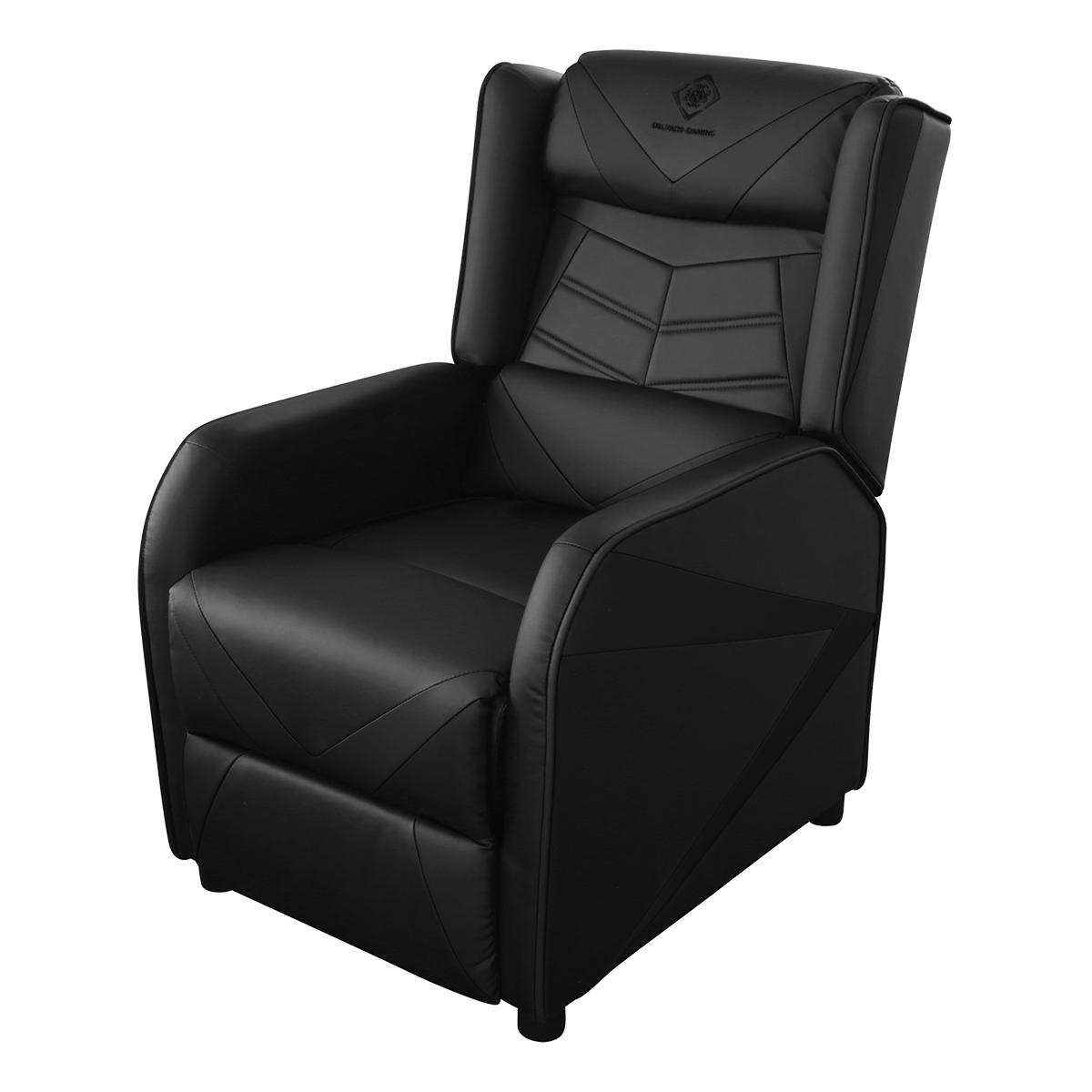 Deltaco Gaming DC420 Fåtölj i konstläder, recliner, svart